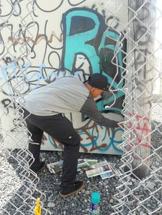 My baby doing some GRAFFITI