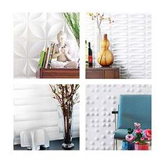 inhabit living wall flats (they're paintable).  starting at $10! www.inhabitliving...