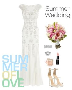 """""""Summer Wedding"""" by lisal-288 ❤ liked on Polyvore featuring Monsoon, Giuseppe Zanotti, Frederic Sage and Smashbox"""