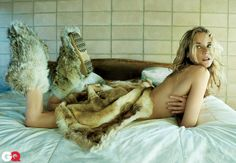 In bed with Diane Kruger: Topless actress rolls around in fur blanket in seductive photo shoot Diane Kruger, Seductive Photos, How To Get Abs, Gq Magazine, Vintage Boots, Wardrobe Basics, Fur Boots, Fur Fashion, Fashion Trends