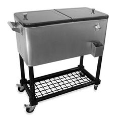 80-Quart Stainless Steel Cooler with Tray - BedBathandBeyond.com