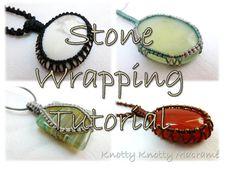 TUTORIAL Macrame Stone Wrapping / Macrame by KnottyKnottyMacrame