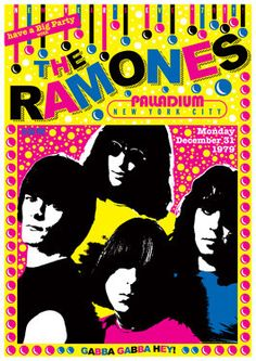 RAMONES - 31 December 1979 New York usa - artistic concert poster