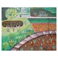 Nicolette Carter - Back to the Garden, Original Acrylic Painting on Canvas Framed, 81x66x2cm   ACHICA
