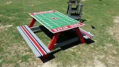 Pallet kids picnic table custom built hand painted