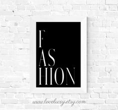 Stylish 'Fashion' wall art by LoveLuxy. Available at Etsy as a downloadable print. The perfect decor for your bedroom, living room, office, etc. #interiordesign #interiors #interiordesignideas #interiordecorating #fashionwallart #wallart #moderndecor #office #bedroom #bedroomideas #bedroomdecor #bedroomdesign #home #homedecor #homedecorideas