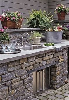 A rock maintenance strip around the house ... catches splashes, keeps siding clean and minimizes pests. Put your foundation plantings in f...