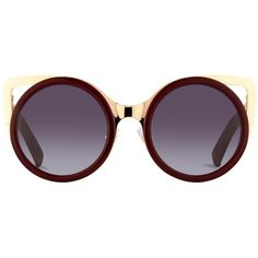 Cat Eye Sunglasses by Erdem in Maroon with a Gradient Lens. | Linda... found on Polyvore featuring accessories, eyewear, sunglasses, cateye sunglasses, cat-eye glasses, cat eye sunglasses, gradient tint sunglasses and gradient lens sunglasses