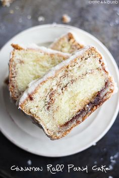 Cinnamon Roll Pound Cake with Vanilla Icing | TheBestDessertRecipes.com