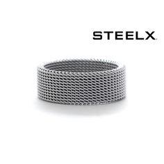 $8.99 - Steelx Men's Stainless Steel Mesh Ring