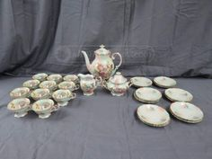 26pc Bavaria Schumann Arzberg Germany Tea Set