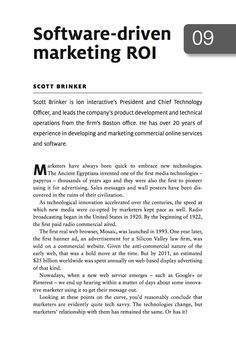 Free chapter from Multi-Channel Marketing Ecosystems: Software-driven marketing ROI chapter Technology Management, Marketing Technology, 20 Years, Infographic, Software, Channel, Free, Infographics, Visual Schedules