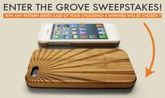 Woohoo! I just entered to win a rad iPhone Case in the #grovesweepstakes. Check it out: http://www.grovemade.com/page/giveaway/2013/ #art