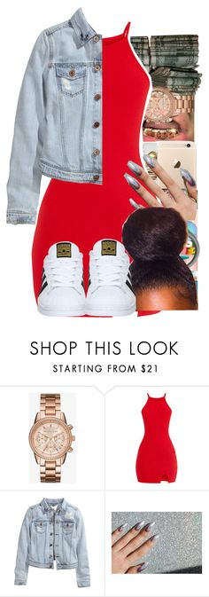 """Untitled #143"" by badkidmaddie ❤ liked on Polyvore featuring Michael Kors, H&M and adidas"