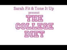 The first diet I found that lets you have alcohol and gives you inexpensive/easy meal options you can actually make at college! I didn't purchase the entire plan because $150 is a little expensive for me right now, but the pointers from the video and sample meals are very helpful! =)