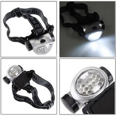 100%25 Brand NEW! High Intensity Ultra Bright 18 Leds Water-Resistant, you can use it in a rainy day Extensive Lifetime of LED (100,000 hours) It can be a guide when you take cycle at night Adjustable base is provided for each head lamp, with back and forth inclination Powered by 3 x AAA batteries (not included) One button switch with 4-modes: 4 LEDs, 8 LEDs,18 LEDs, 18 LEDs Flash