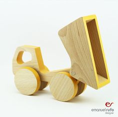 Wooden Push Toy Car Toddler Birthday Gift Boy by emanuelrufo