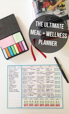 Food + Wellness Planner - create a shopping list, plan meals, and track water, fruit and vegetable intake all in one place for an entire week!