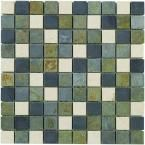 Slate Medley 12 in. x12 in. Wall and Floor Tile {compare to floor}