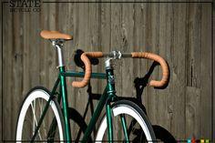 Resultado de imagem para green retro speed bike brown seat