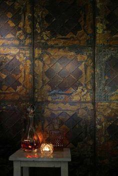 NLXL Merci Brooklyn Tins Wallpaper TIN-08 rustic-wallpaper: