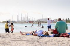 #Baby #Beach in #Aruba with #Lago #Refinery behind - #Travel #Photography #Landscape