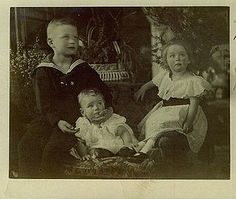 Prince Nicholas of Oldenburg with his sisters Altburg and Ingeborg.