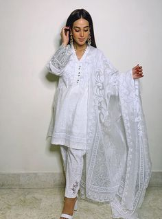 Image may contain: 1 person, text Pakistani Fashion Casual, Pakistani Outfits, Indian Fashion, Fashion Wear, Hijab Fashion, Girl Fashion, Fashion Dresses, Iqra Aziz, Dress Indian Style