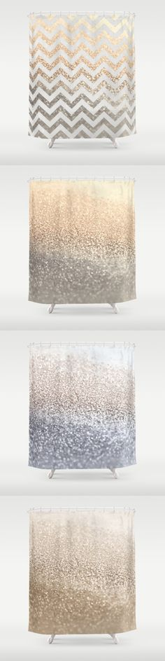 GOLD or SILVER ? It´s up to you ..... $68 by Monika Strigel for Society6  The showercurtains don`t have real glitter pieces on it - it`s a photograhic realistic print, so nothing can be damaged or spoiled!  Easy washable and comes with full money back guarantee!