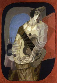 Juan Gris - né en 1887 - Cubisme - Pierrot à la Guitare