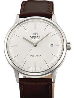 Orient Bambino Version 3 Automatic Dress Watch with White Dial, Applied Silver Hour Markers ER2400MW
