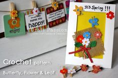 Free crochet pattern & tutorial of small, simple & easy to make butterfly flower leaf to give some Spring motifs for your embellishment. - Page 2 of 2