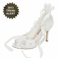6bae7af07d38 Perfect Violet Ivory Lace Wedding Shoes