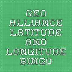 Geo Alliance Latitude and Longitude Bingo