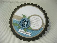Folding Scallop circle card - May's creative side