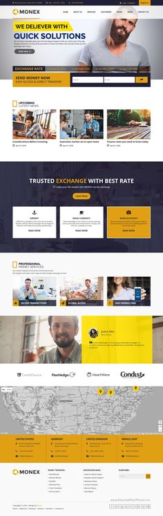Monex is a clean and Modern 5 in 1 #WordPress Theme for money exchange, #financial business or #consulting firms websites download now➝ https://themeforest.net/item/monex-money-exchange-finance-business-wordpress-theme/16130837?ref=Datasata