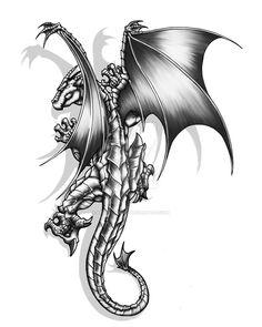 Deviantart dragon tattoo shoulder, dragon sleeve, s tattoo, body art Dragon Tattoo Pictures, Dragon Pictures, Dragon Tattoo Art, Dragon Artwork, Fairy Tattoo Designs, Dragon Tattoo Designs, Star Tattoos, Body Art Tattoos, Wing Tattoos