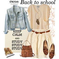 """""""chicnova back to school outfit"""" by adriana-adrielle on Polyvore"""