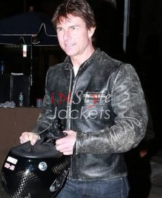 We are presenting the chance that comes once in a lifetime! You can get hold of the #TomCruise replica #LeatherJacket and look like him!