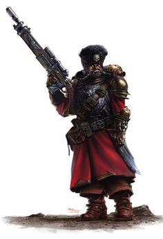 The Vostroyan Firstborn is the name given to the regiments of the Imperial Guard that originate from the industrial Hive World of Vostroya located near the Halo Stars inthe Segmentum Obscurus. Warhammer Imperial Guard, 40k Imperial Guard, Imperial Army, Character Concept, Character Art, Character Design, Imperial Guardsman, Warhammer 40k Rpg, Arte Steampunk