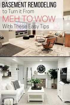Basement Remodeling ideas, basement decor