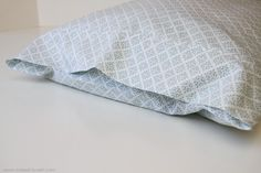 How to sew pillowcases that fold over inside to hide your pillows