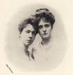 Queen Elisabeth of Belgium and her sister, Crown Princess Marie Gabrielle of Bavaria.