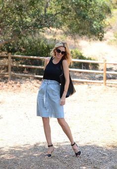 Madewell Chambray Skirt
