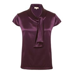 Silk blouse for work - the perfect work top ideal for your business wardrobe. This is the Genevieve Plum Silk Blouse by Matilda & Quinn £169 http://www.pinstripeandpearls.com/women/work-tops