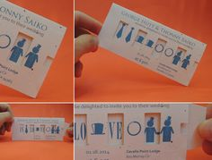 Interactive and sweet Wedding Invitation for a same-sex couple.
