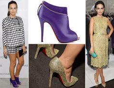 Nem só de sandálias vive Louboutin! Olha só a Col Zippe boots roxa da Camilla Belle, deixa qualquer look mais fashion na hora! Já o Pigalle Strass, todo dourado, é puro luxo!