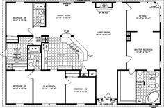 Simple Square House Plans | The TNR-7604 - Manufactured Home Floor Plan | Jacobsen Homes
