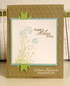 Stamp 4 Fun with Selene Kempton ~ Stampin' Up! Independent Demonstrator: Stampin' Up! Serene Silhouettes and Trust God