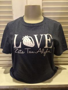 Zeta Tau Alpha Love Tshirt  Sorority by SimplySistersGreek1